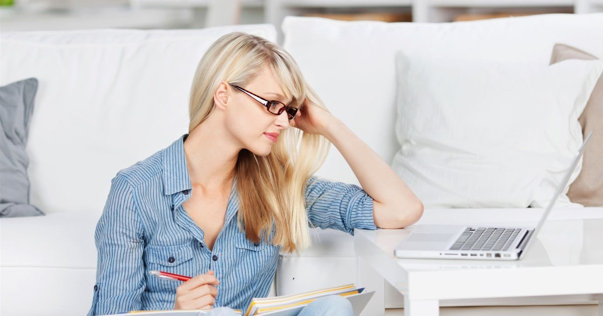 Online Master's Degree main - adult female studying with laptop