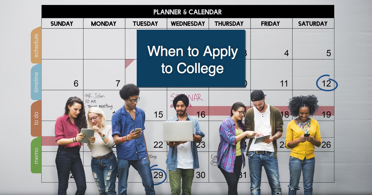 College application calendar