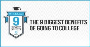Why Go to College – The 9 Biggest Benefits [INFOGRAPHIC]