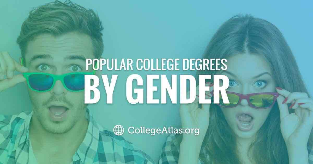 Most popular masters degrees by gender